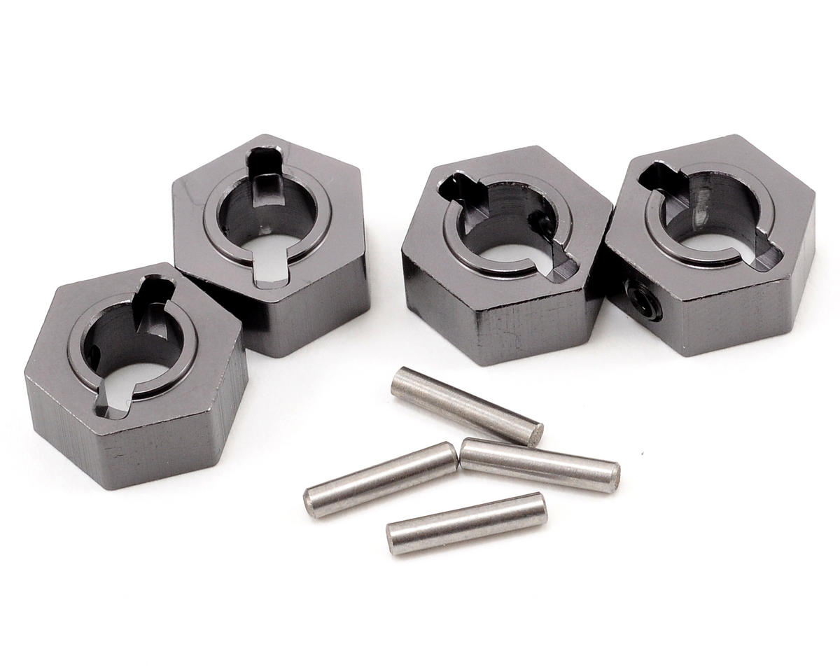 ST Racing Concepts Aluminum Hex Adapter & Drive Pin Set (Gun Metal) (4)