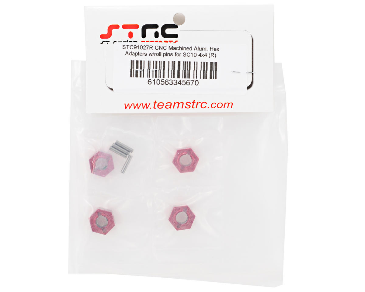 ST Racing Concepts Aluminum Hex Adapter & Drive Pin Set (Red) (4)