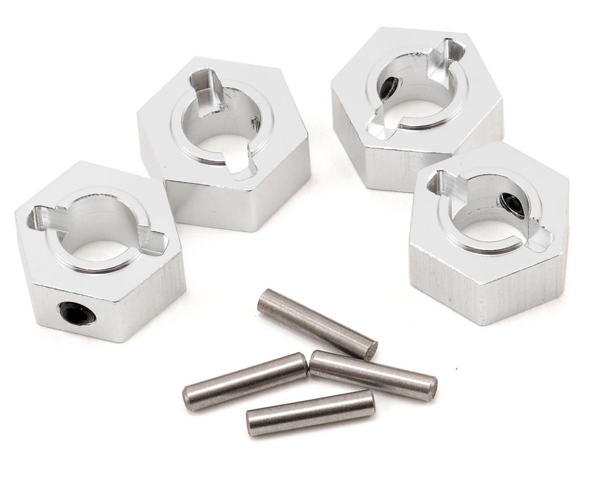 Aluminum Hex Adapter & Drive Pin Set (Silver) (4) by ST Racing Concepts