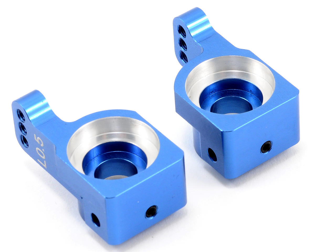 ST Racing Concepts Aluminum 0.5° Rear Hub Carrier Set (Blue) (2)