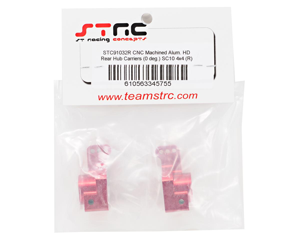 ST Racing Concepts Aluminum Rear Hub Carrier Set (Red) (2)