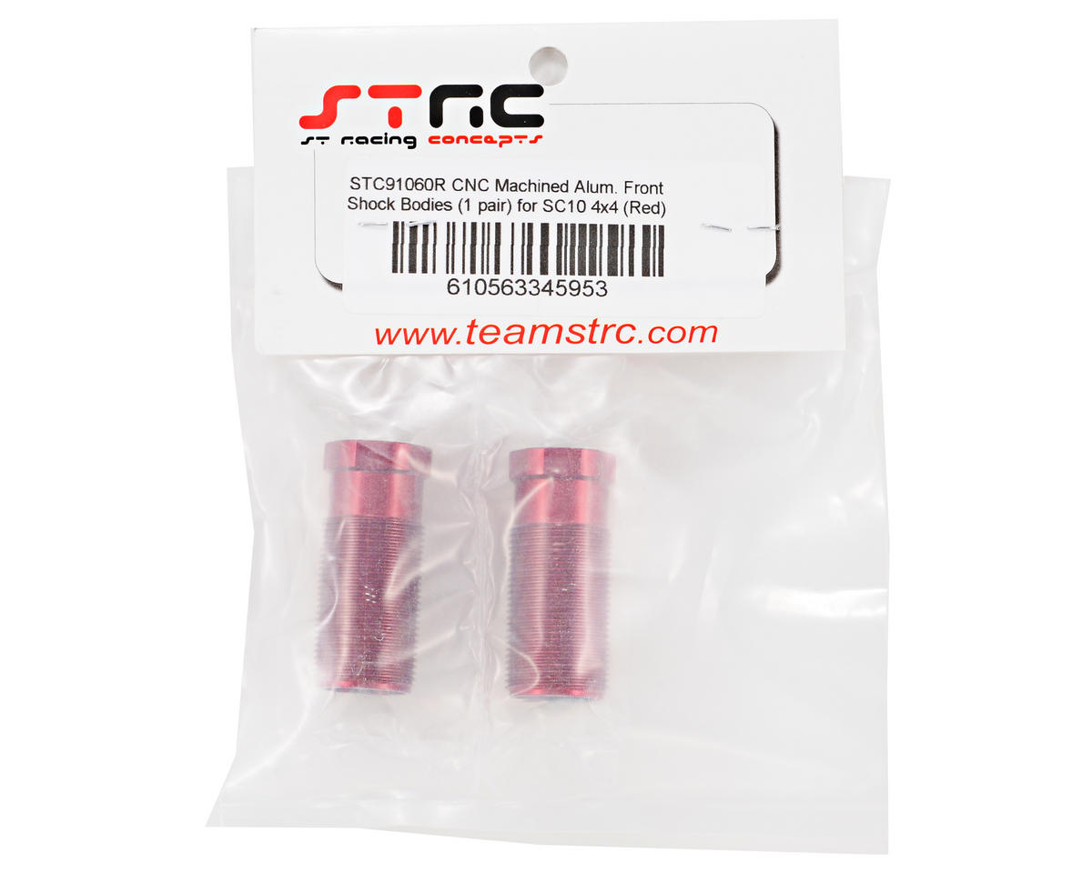 ST Racing Concepts Aluminum Front Shock Body Set (Red) (2)