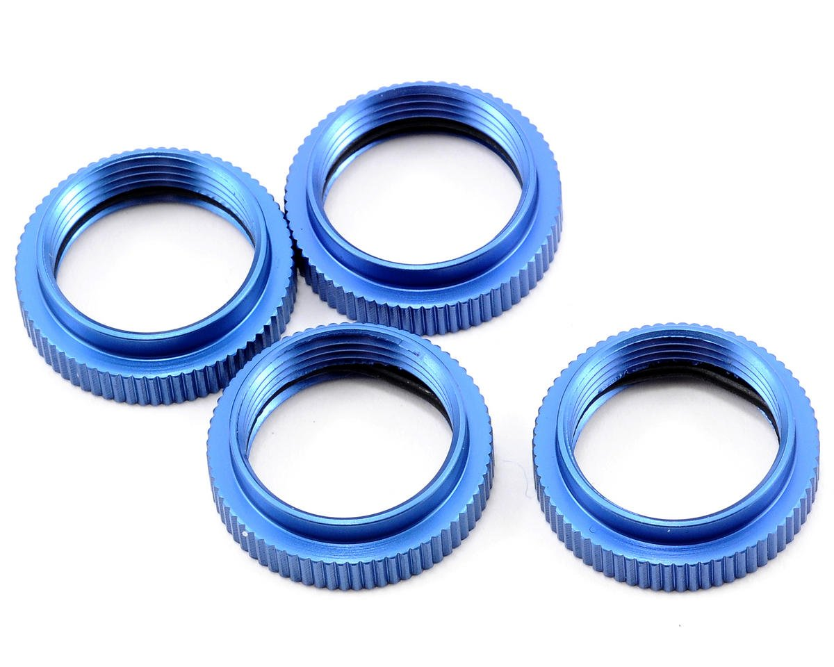 ST Racing Concepts Aluminum Spring Collar Set (Blue) (4)