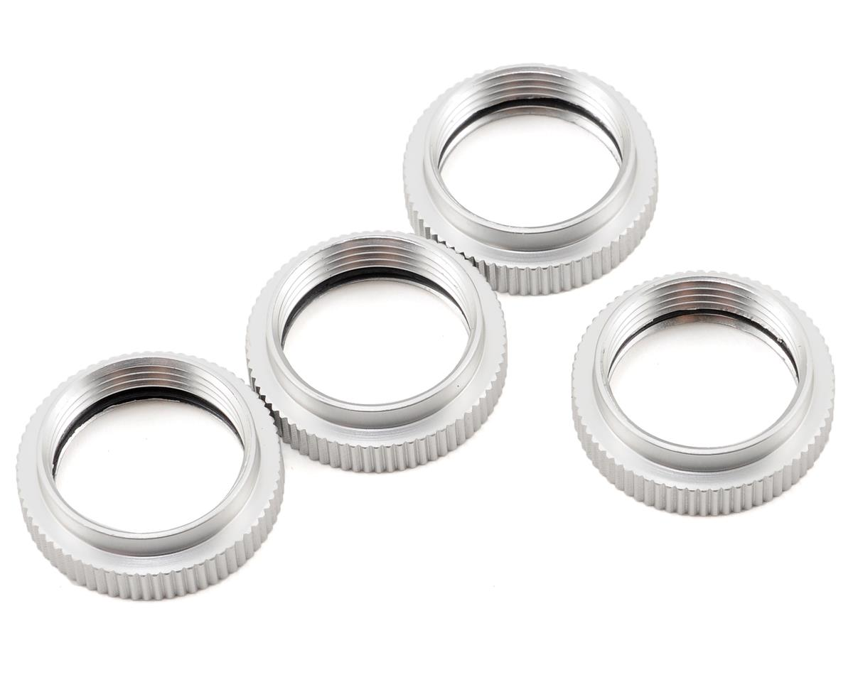 Aluminum Spring Collar Set (Silver) (4) by ST Racing Concepts