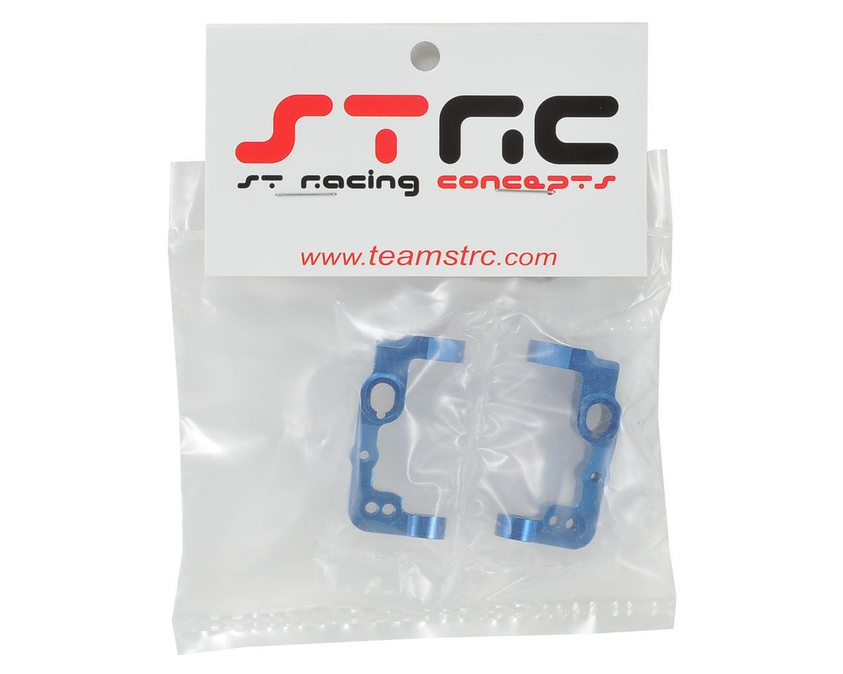 B5/B5M Aluminum Front Caster Block (2) (Blue) by ST Racing Concepts
