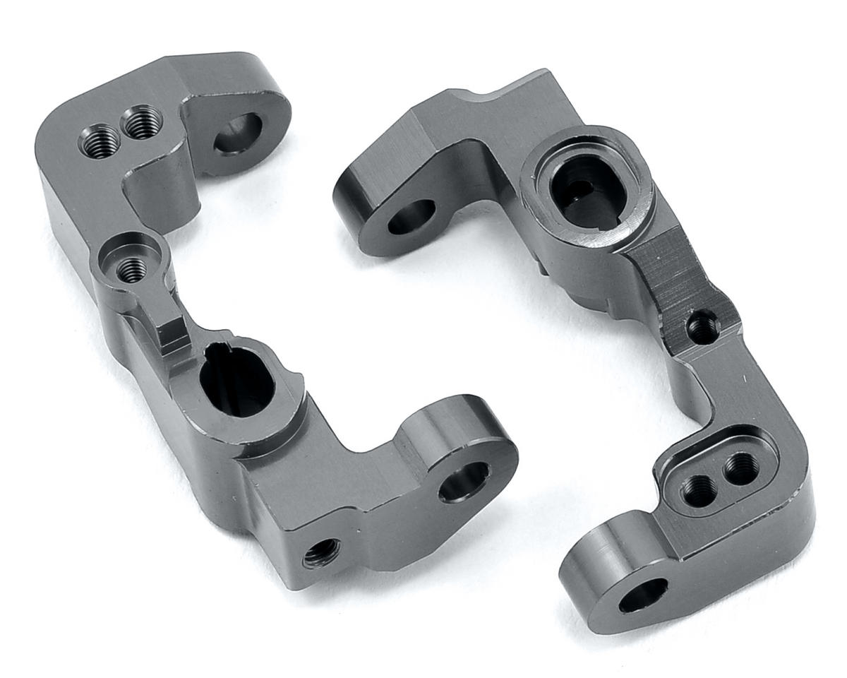 B5/B5M Aluminum Front Caster Block (2) (Gun Metal) by ST Racing Concepts
