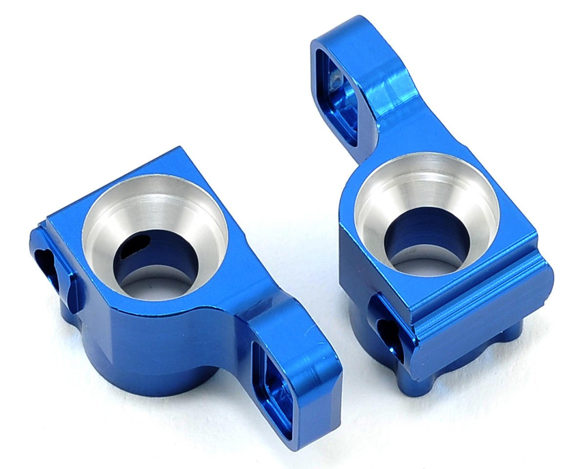 B5/B5M Aluminum HD Rear Hub Carriers (2) (Blue) by ST Racing Concepts