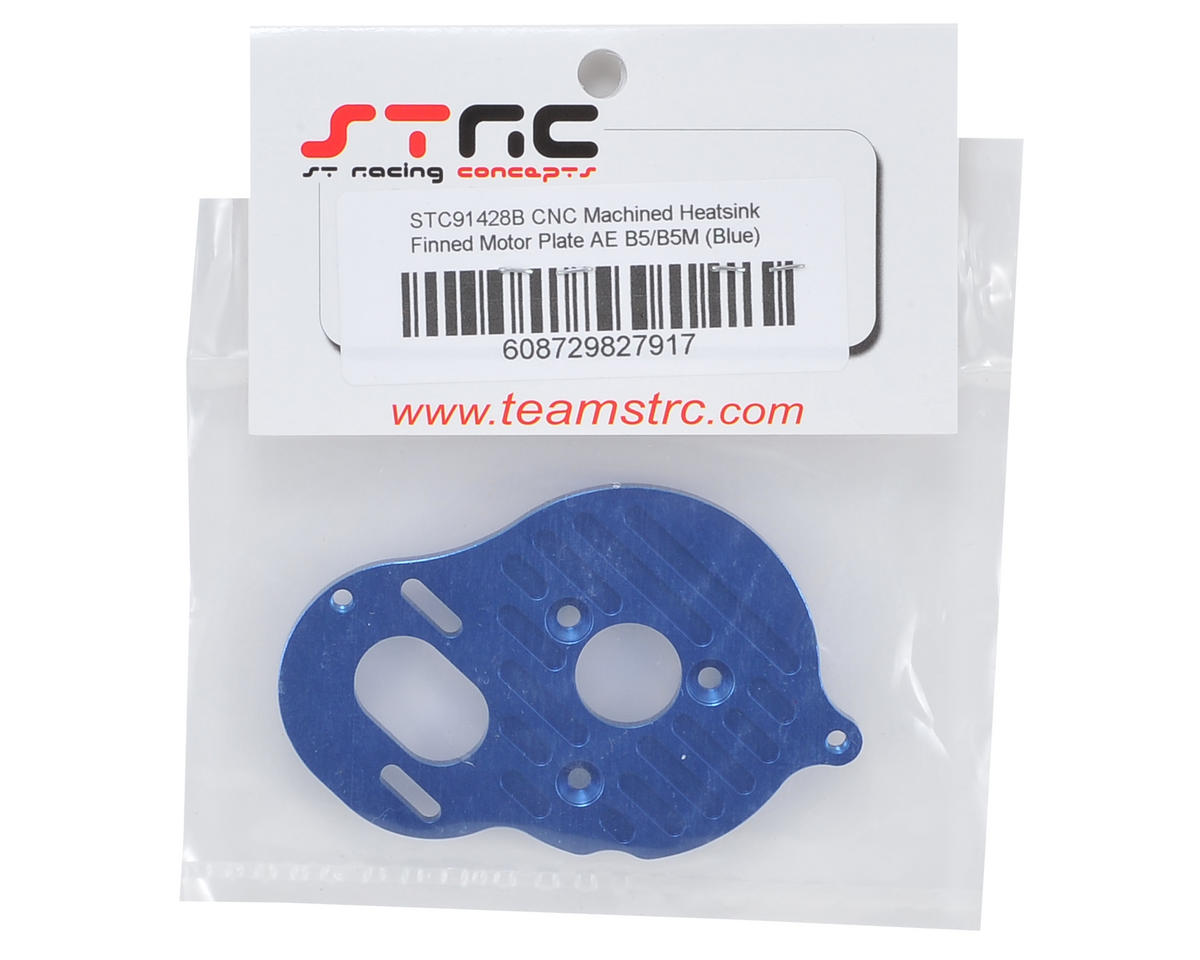 B5/B5M Aluminum Motor Mount Plate (Blue) (4-Gear & B5) by ST Racing Concepts