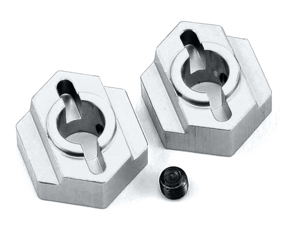 ST Racing Concepts B5 Aluminum Rear Hex Adapter (2) (Silver)