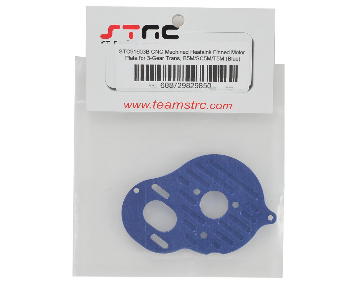"ST Racing Concepts B5M Aluminum ""3 Gear"" Motor Plate (Blue)"