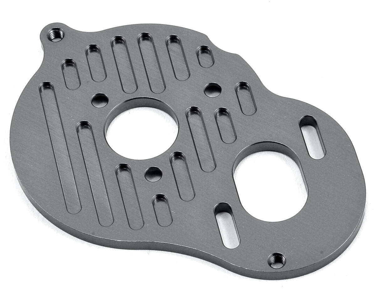 "B5M Aluminum ""3 Gear"" Motor Plate (Gun Metal) by ST Racing Concepts"