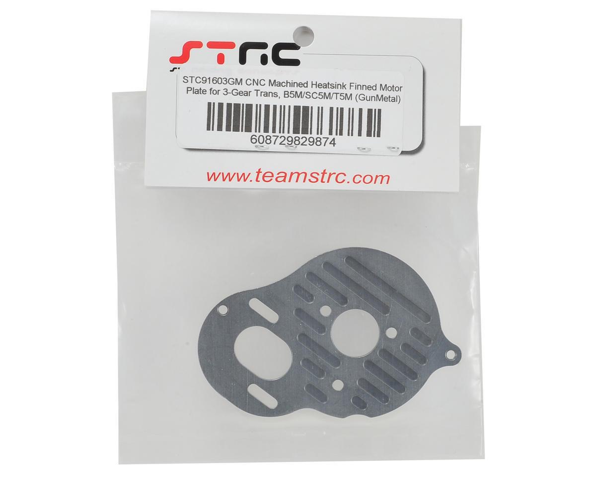 "ST Racing Concepts B5M Aluminum ""3 Gear"" Motor Plate (Gun Metal)"
