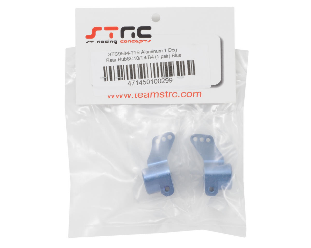 ST Racing Concepts Aluminum +1° Toe-in Rear Hub Carriers (Blue)