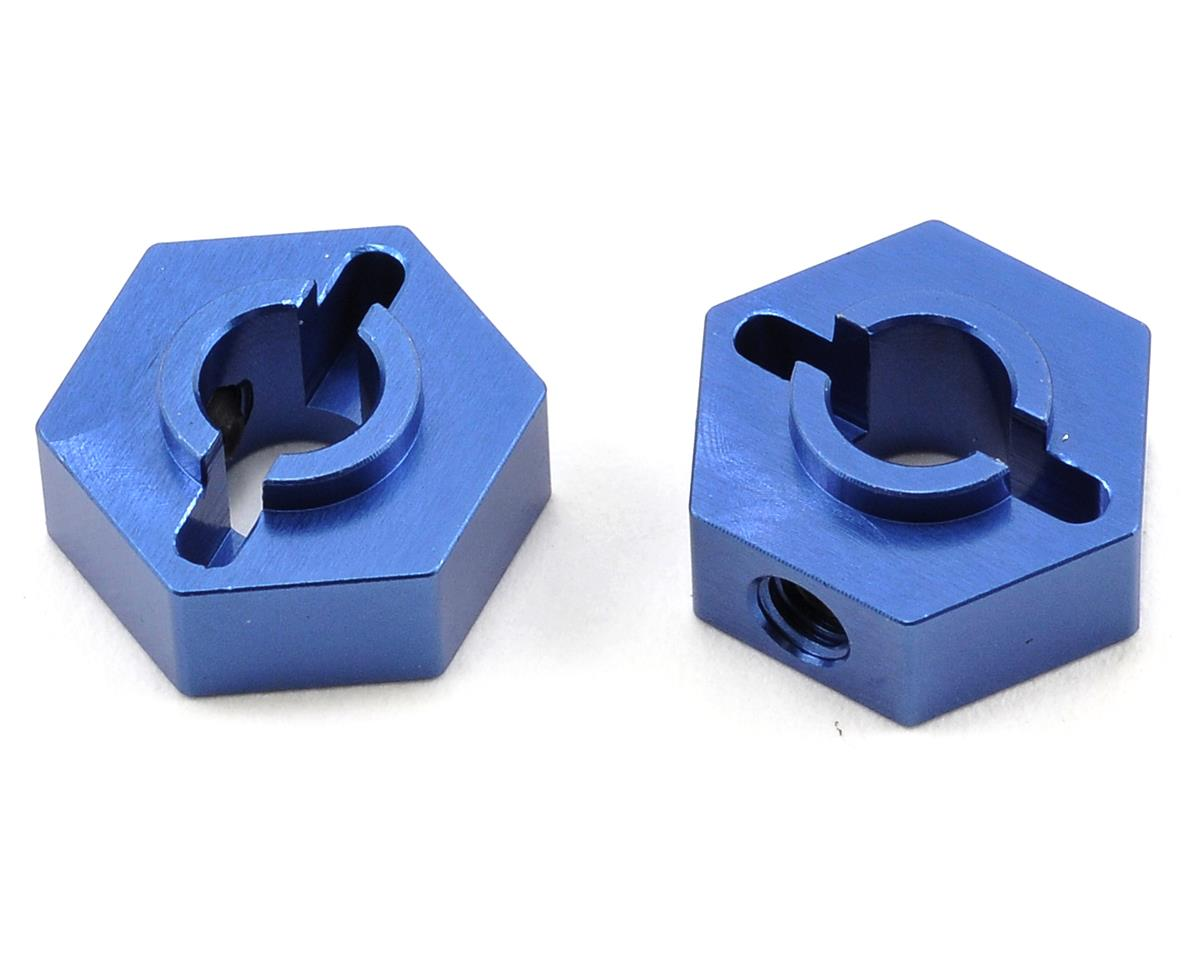 Aluminum Rear Hex Adapter Set (Blue) (2) by ST Racing Concepts