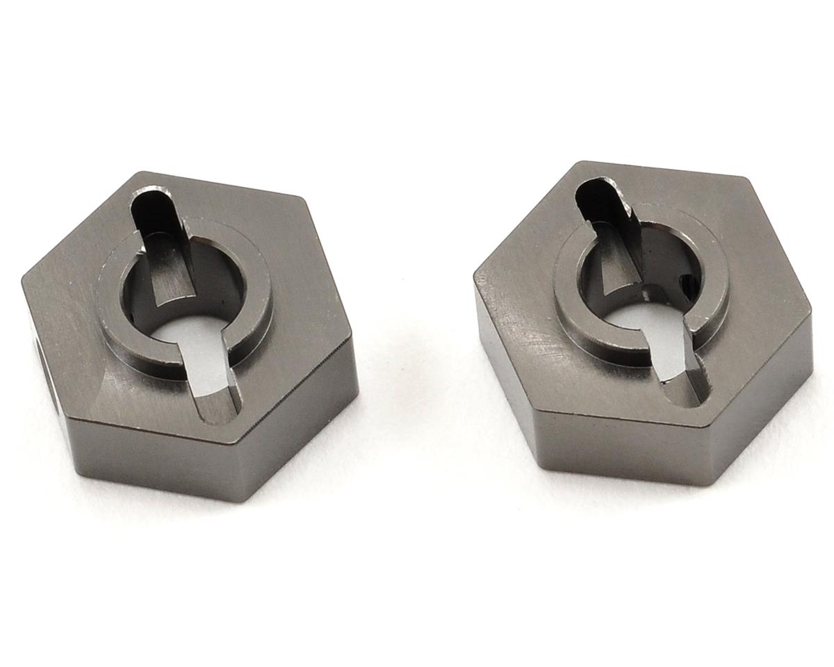 ST Racing Concepts Aluminum Rear Hex Adapter Set (Gun Metal) (2)