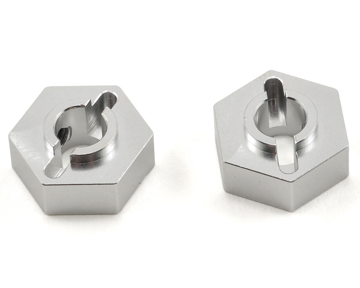 ST Racing Concepts Aluminum Rear Hex Adapter Set (Silver) (2)