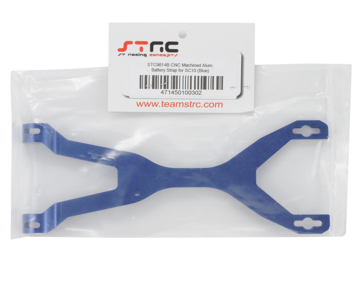 ST Racing Concepts Aluminum Battery Strap (Blue)