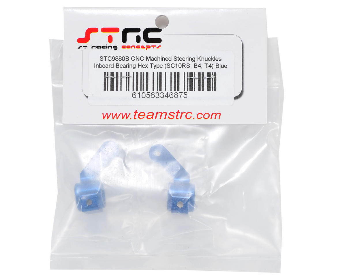 Aluminum Inboard Bearing Steering Knuckles (Blue) (2) by ST Racing Concepts