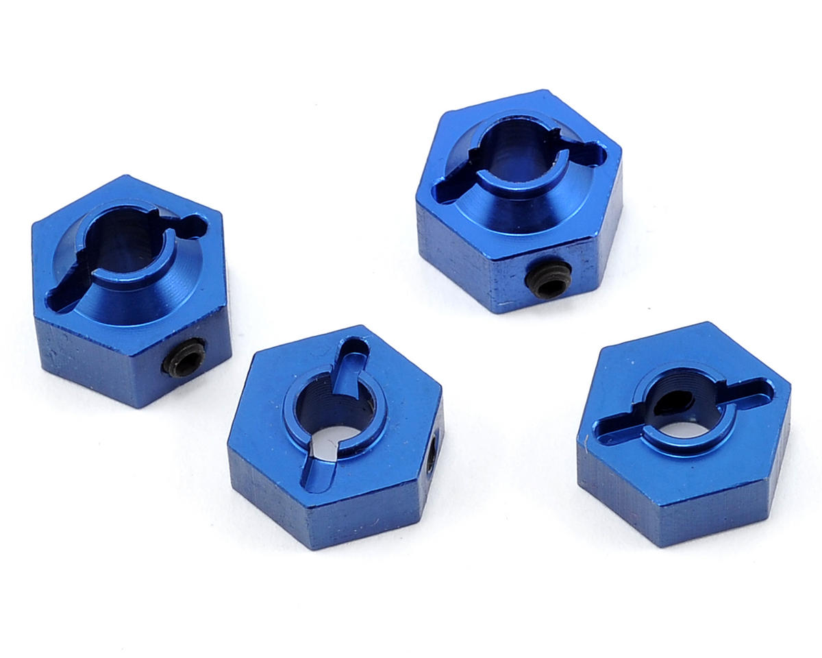 ST Racing Concepts Aluminum Hex Adapter (Blue) (4)