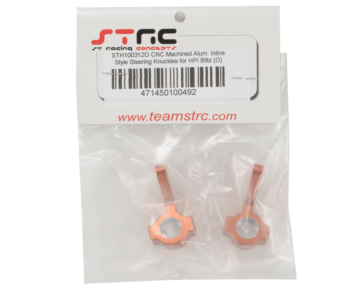 Aluminum Inline Steering Knuckle Set (Orange) by ST Racing Concepts