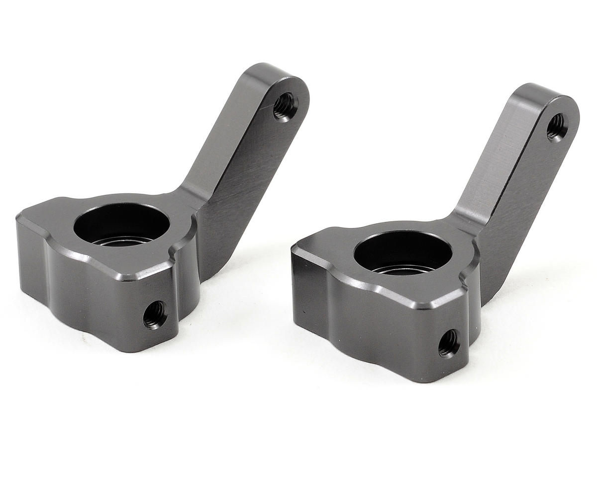 Aluminum Steering Knuckle Set (Gun Metal) by ST Racing Concepts