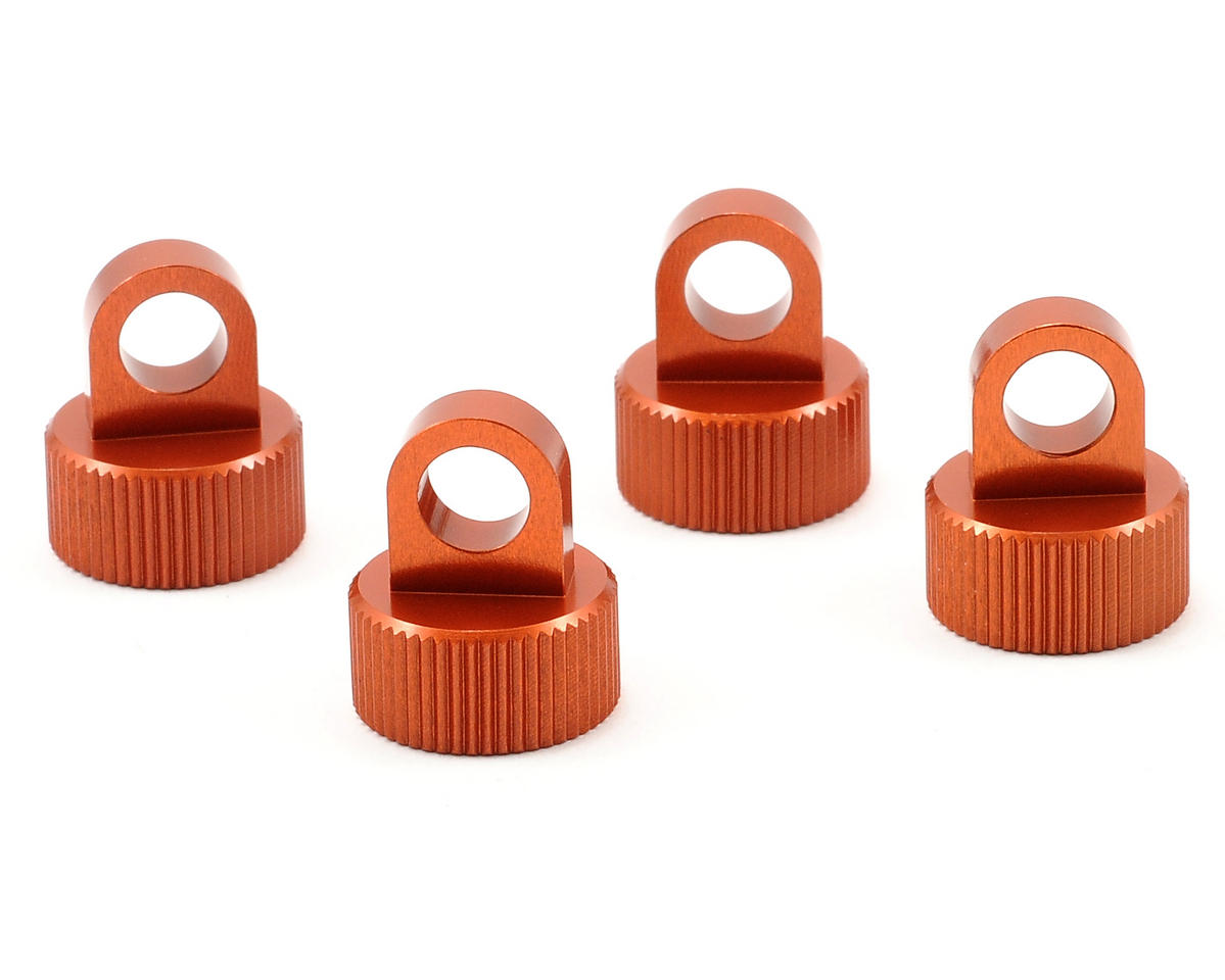 Aluminum Shock Caps (4) (Orange) by ST Racing Concepts