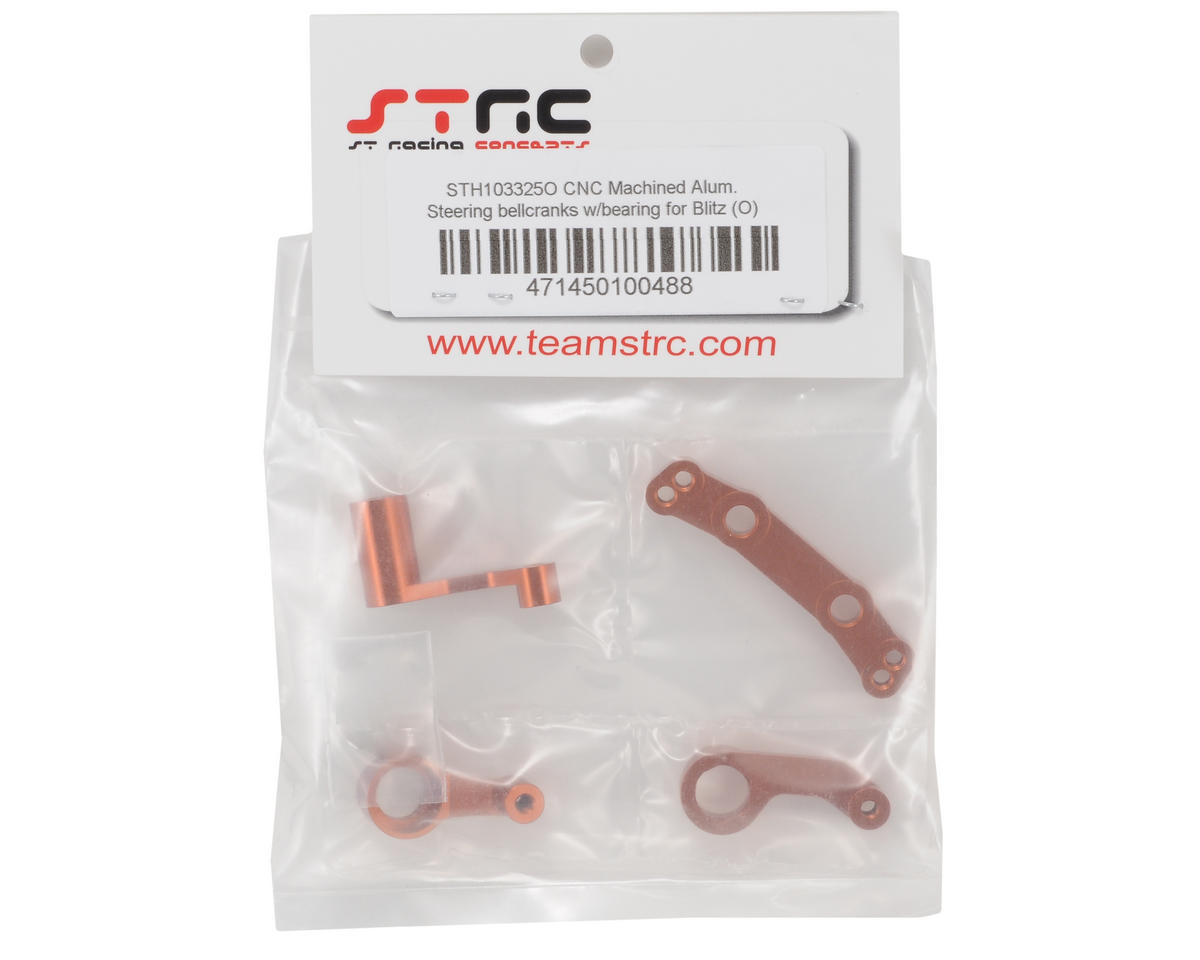 ST Racing Concepts Aluminum Steering Bellcrank Set (Orange)
