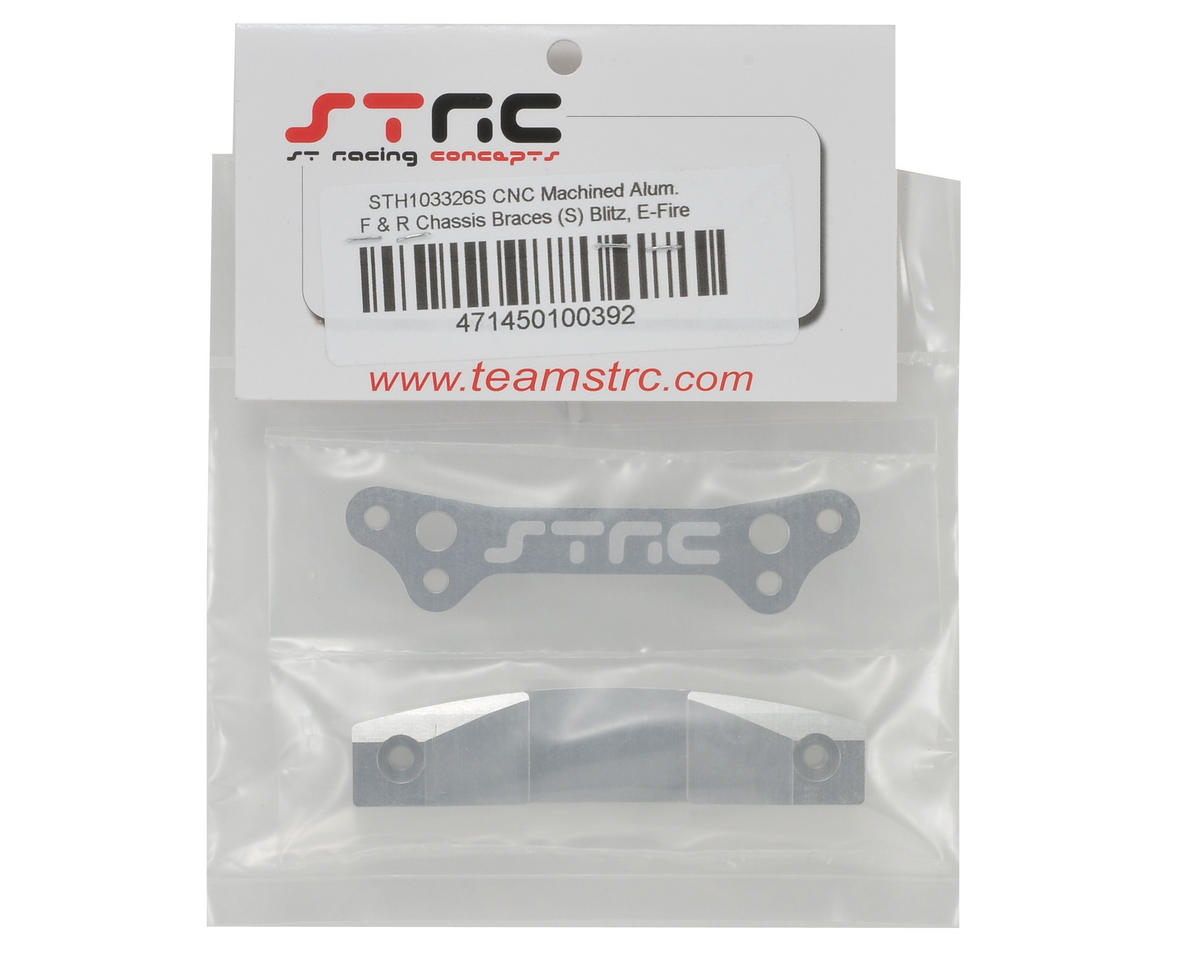 ST Racing Concepts Aluminum Front & Rear Chassis Brace Set (Silver)
