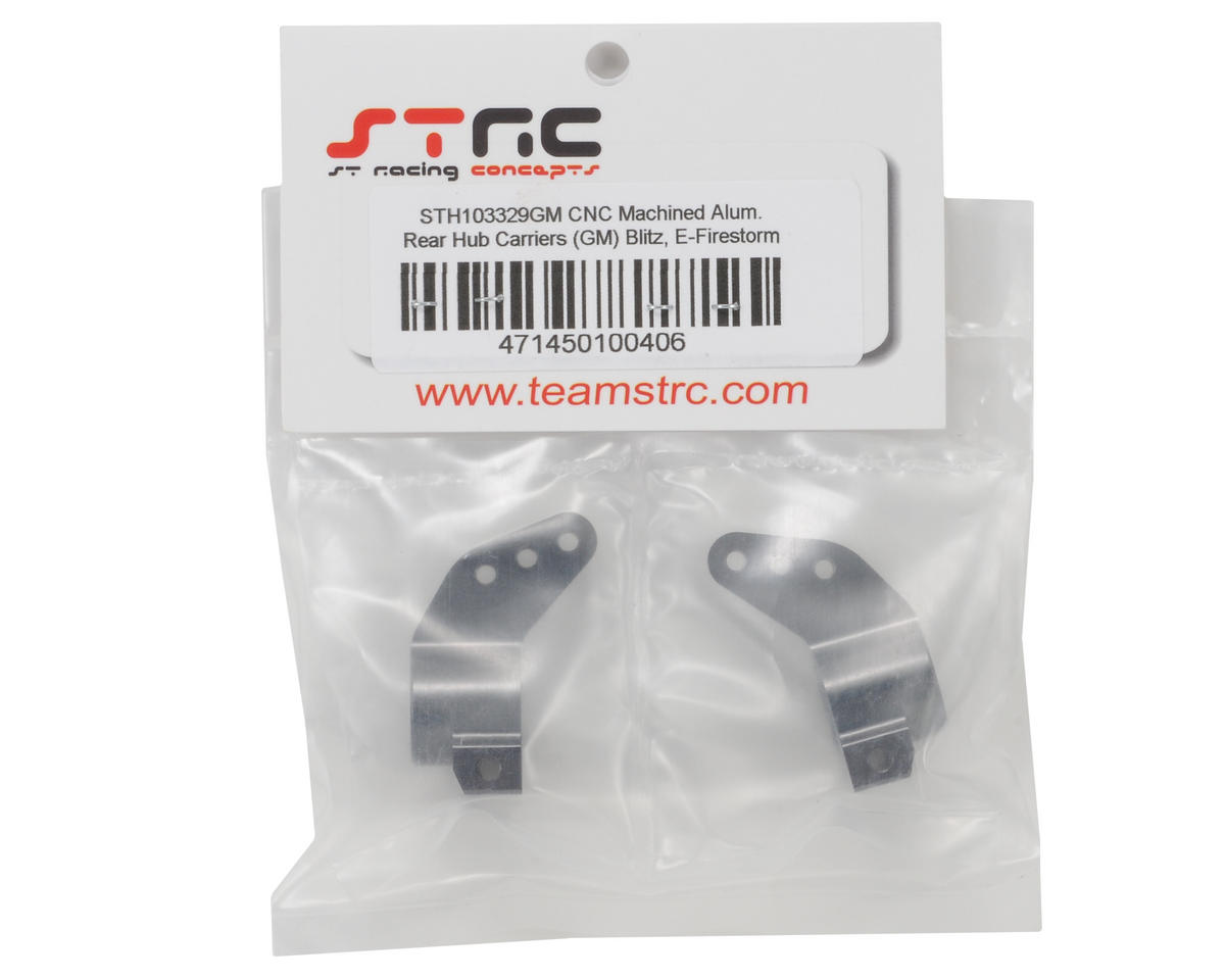 ST Racing Concepts Aluminum Rear Hub Carrier Set (Gun Metal)
