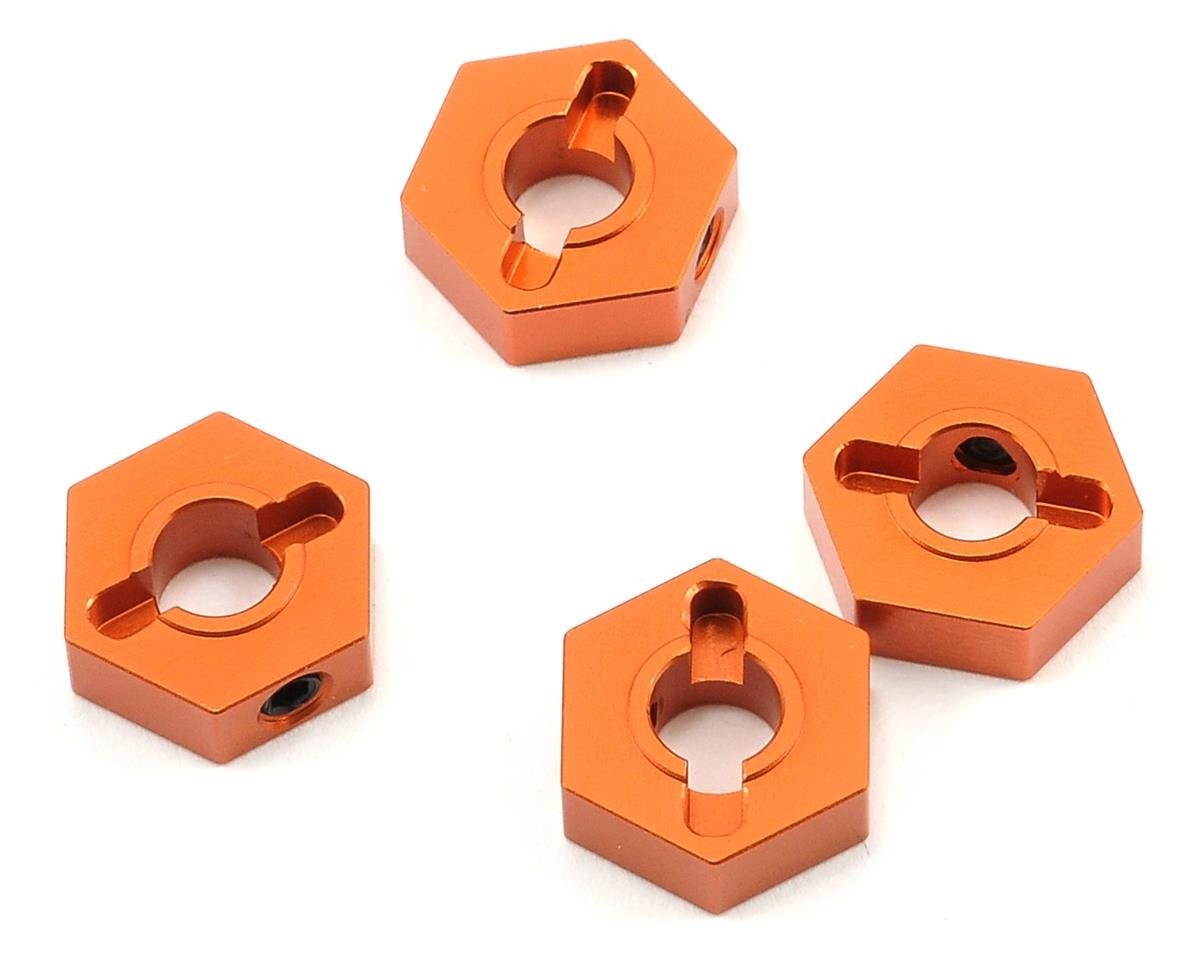ST Racing Concepts Aluminum Hex Adapter Set (Orange) (4)