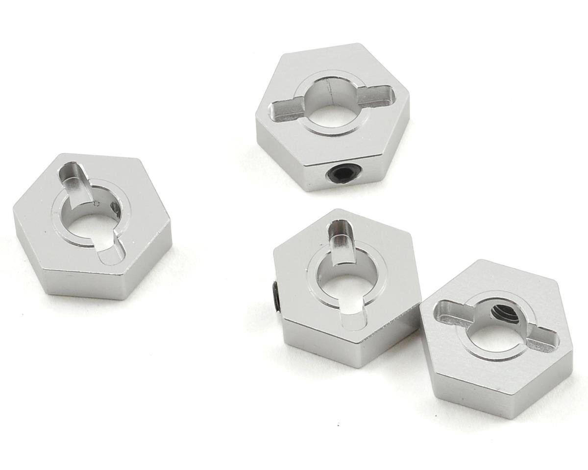 Aluminum Hex Adapter Set (Silver) (4) by ST Racing Concepts