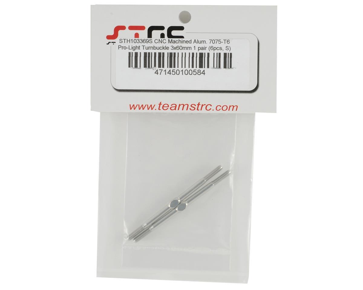 """ST Racing Concepts 3x60mm Aluminum """"Pro-Lite"""" Turnbuckle Set (Silver) (2)"""
