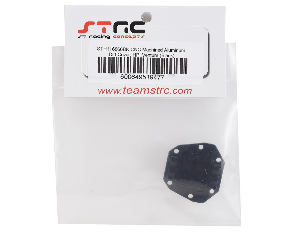 ST Racing Concepts HPI Venture Aluminum Diff Cover (Black)