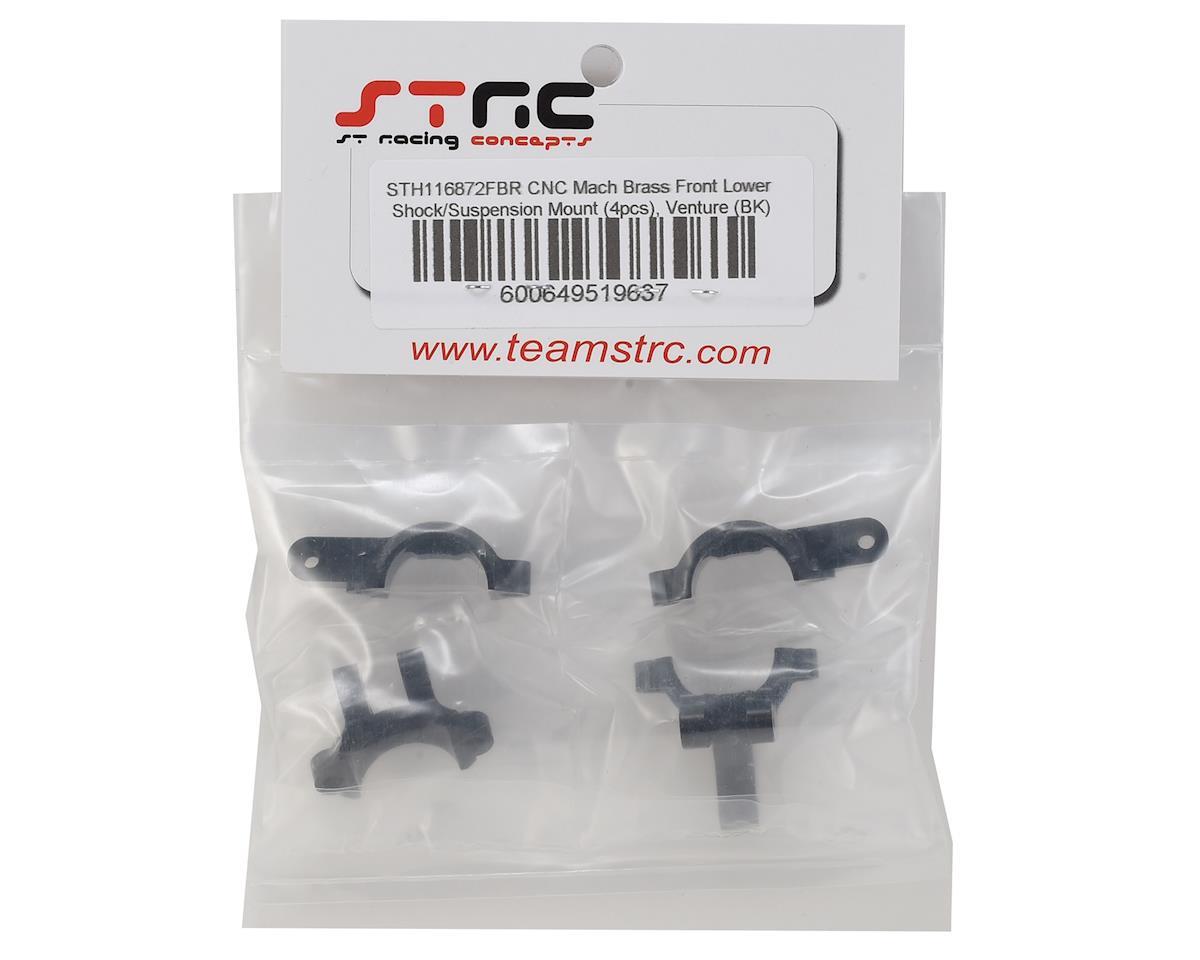 ST Racing Concepts HPI Venture Brass Front Lower Shock/Suspension Link  Mount (Black) (4)