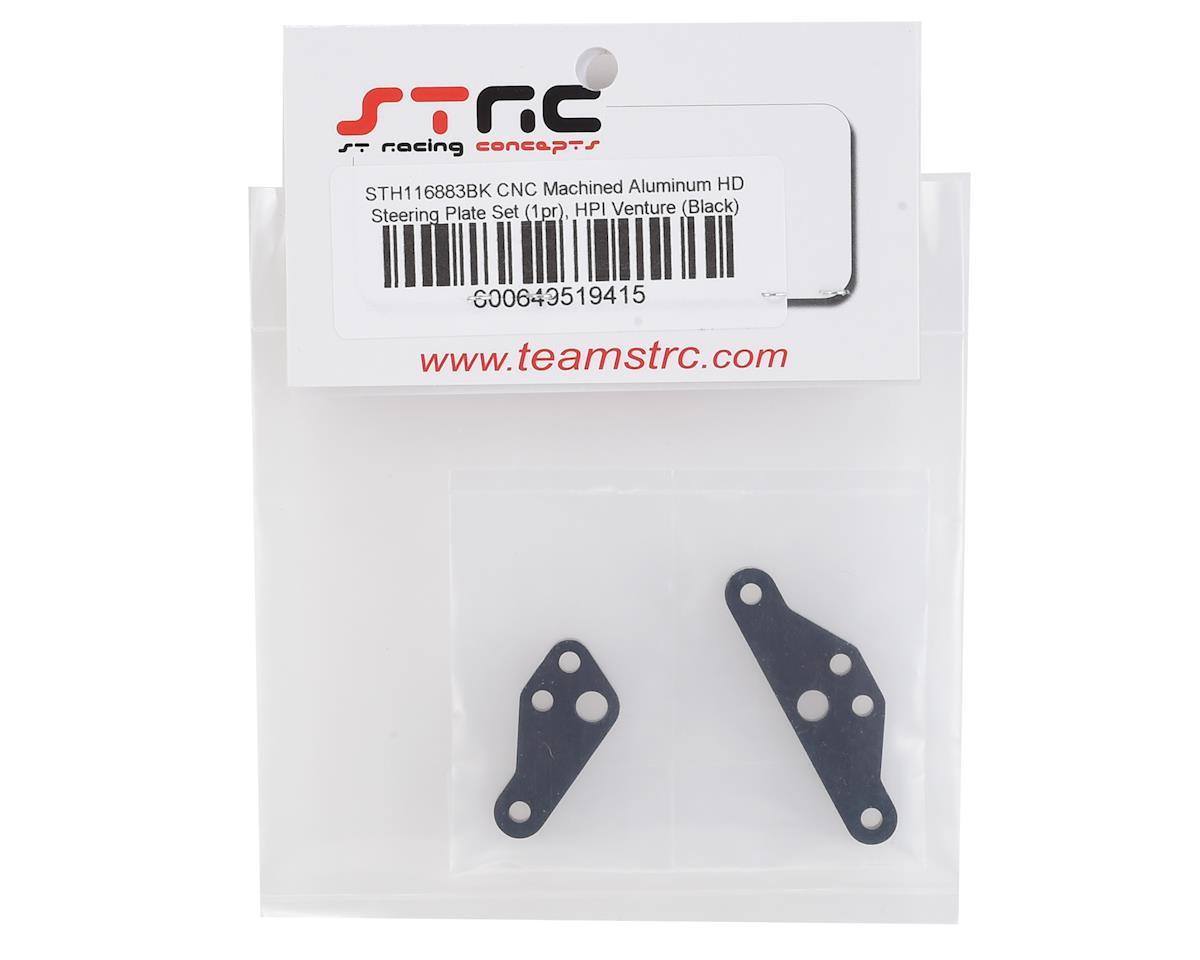 ST Racing Concepts HPI Venture Aluminum HD Steering Plate Set (Black) (2)