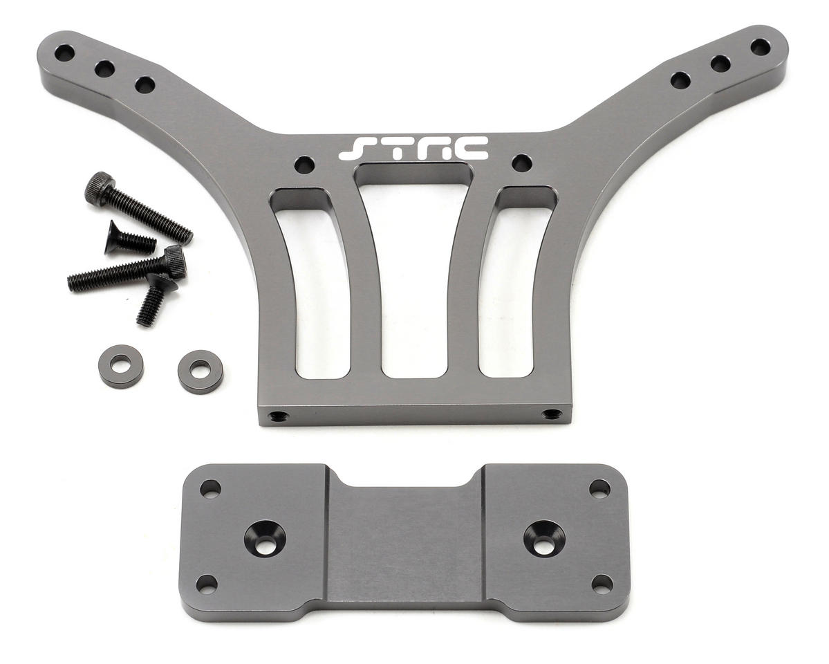 Aluminum HD Rear Shock Tower (Gun Metal) by ST Racing Concepts