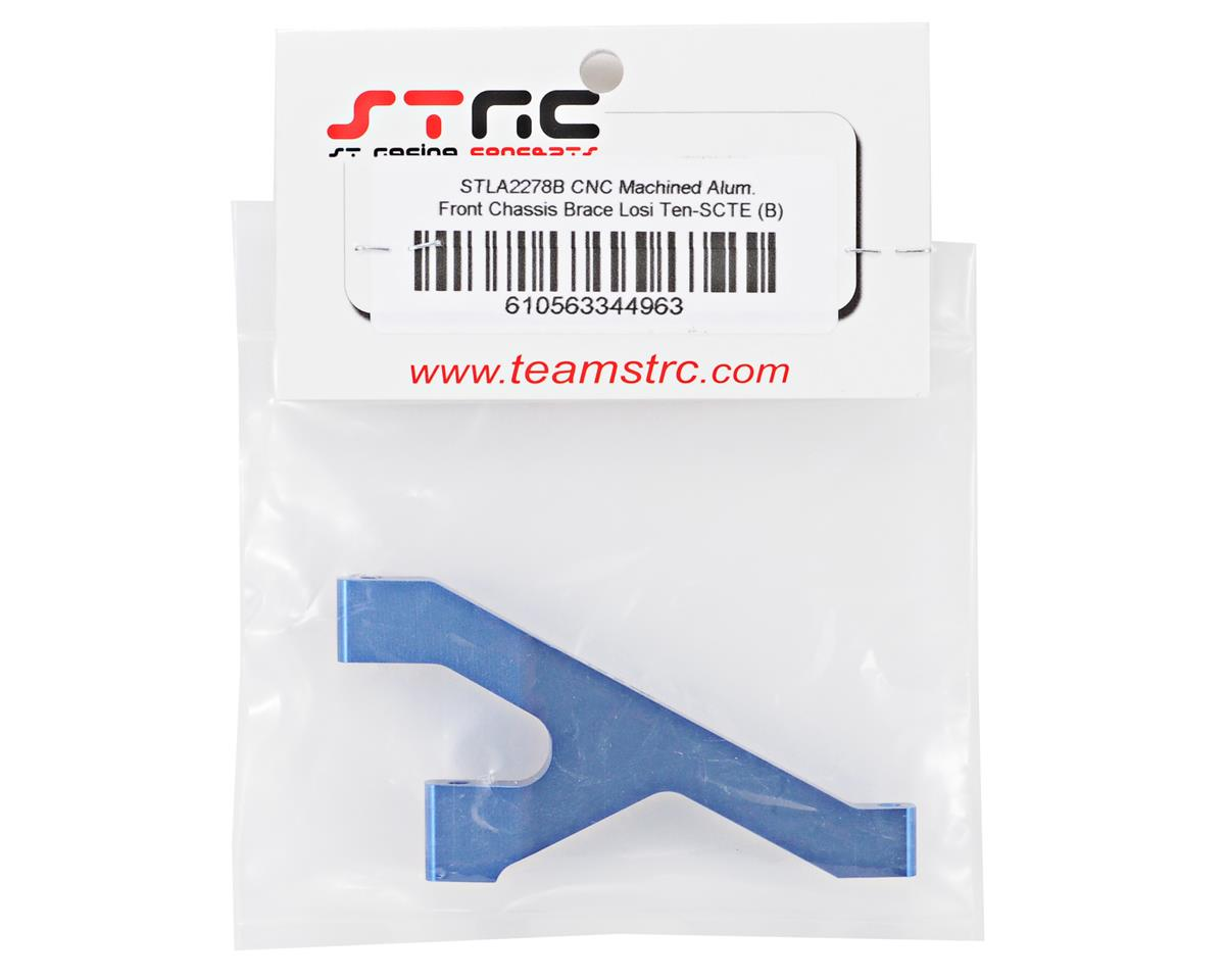 ST Racing Concepts Aluminum HD Front Chassis Brace (Blue)