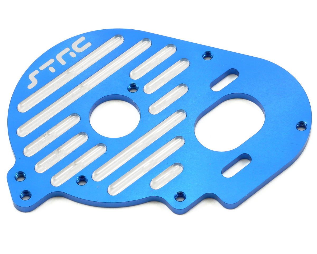 Aluminum Heatsink Finned Motor Plate (Blue) by ST Racing Concepts