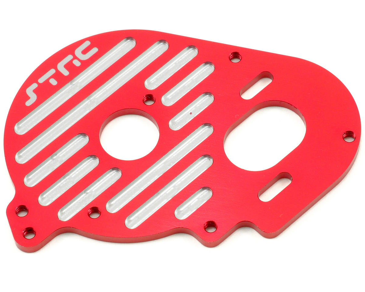 ST Racing Concepts Aluminum Heatsink Finned Motor Plate (Red)
