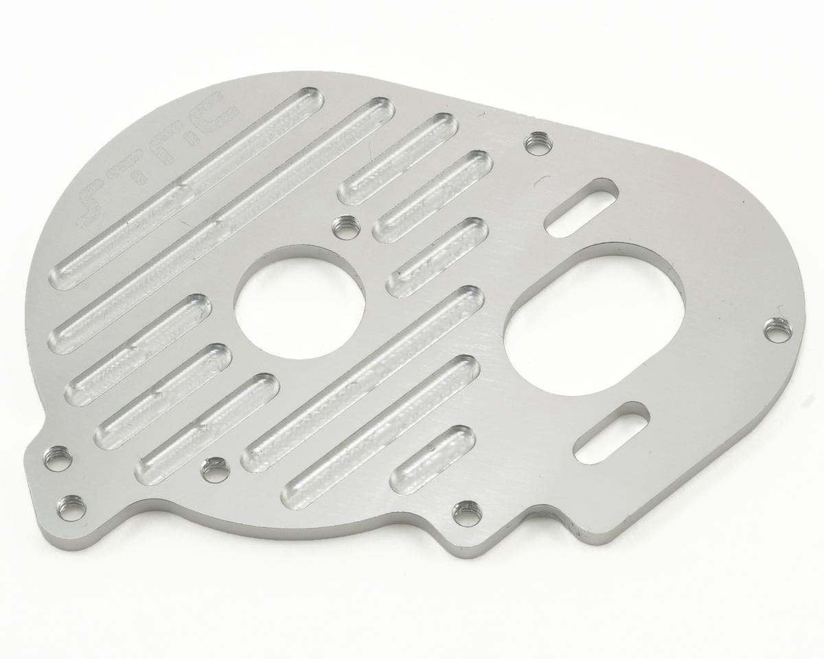 Aluminum Heatsink Finned Motor Plate (Silver) by ST Racing Concepts
