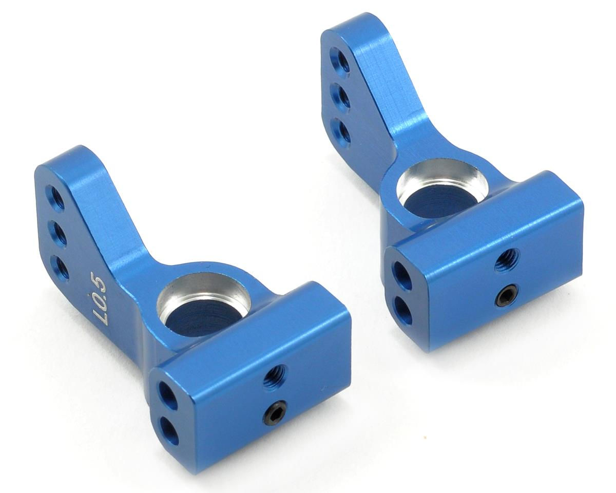 ST Racing Concepts Aluminum VLA 0.5° Rear Hub Carrier Set (Blue) (2)