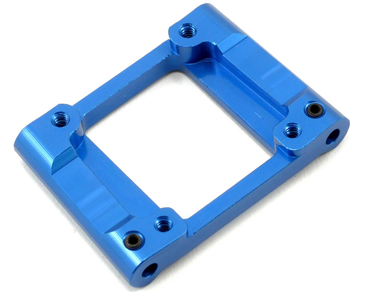 ST Racing Concepts Aluminum HD Rear Lower Bulkhead (3°) (Blue) (Losi XXX-SCB)