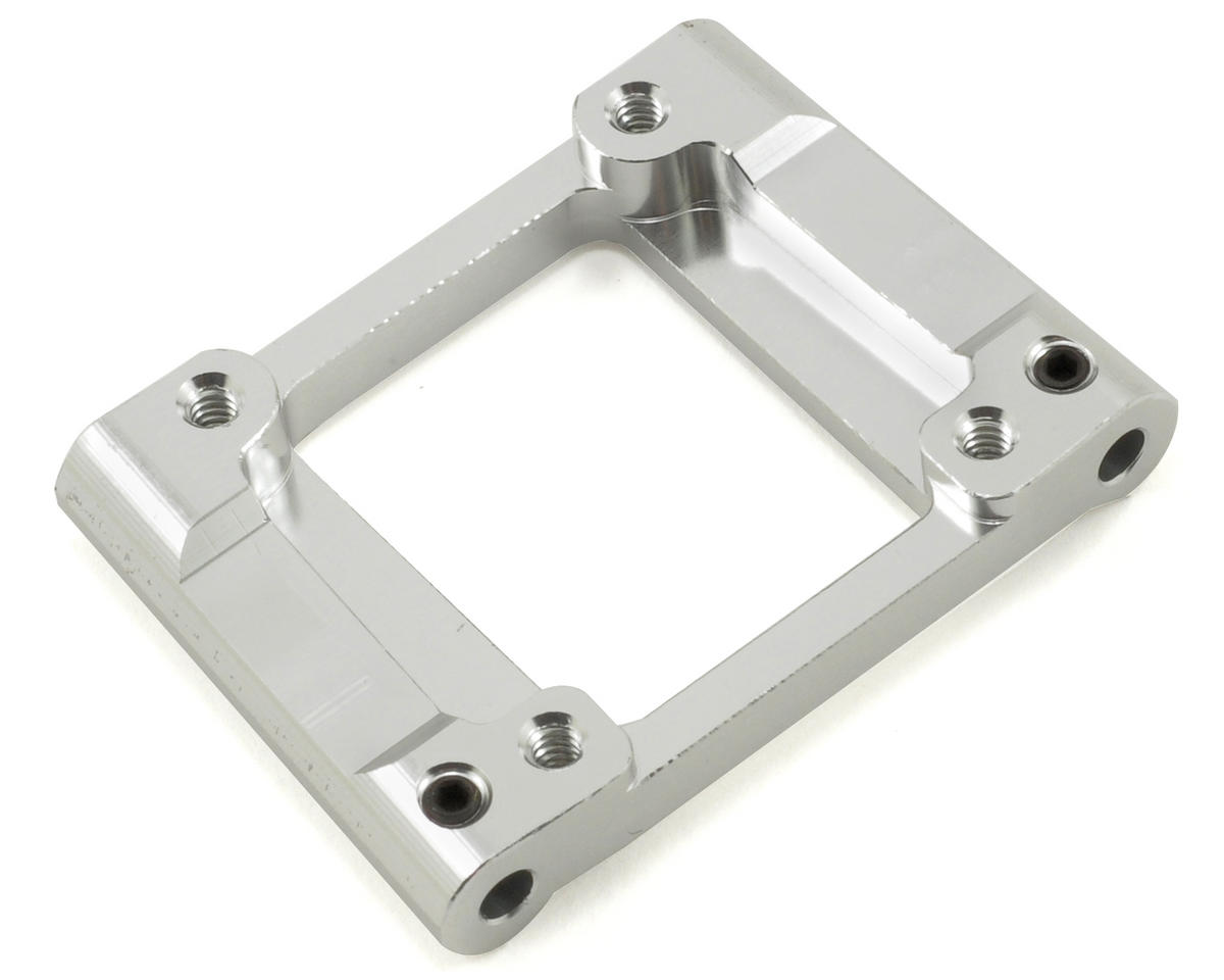 Aluminum HD Rear Lower Bulkhead (3°) (Silver) by ST Racing Concepts