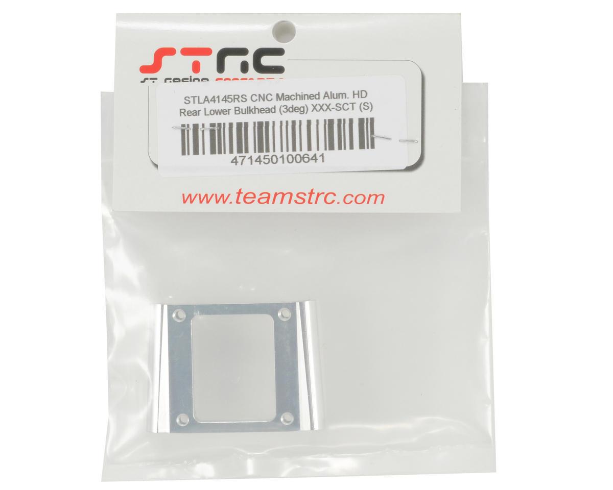 ST Racing Concepts Aluminum HD Rear Lower Bulkhead (3°) (Silver)
