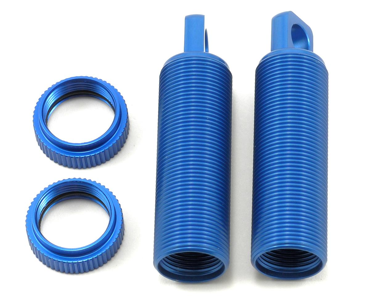 ST Racing Concepts Aluminum Threaded Front Shock Body & Collar Set (Blue) (2)