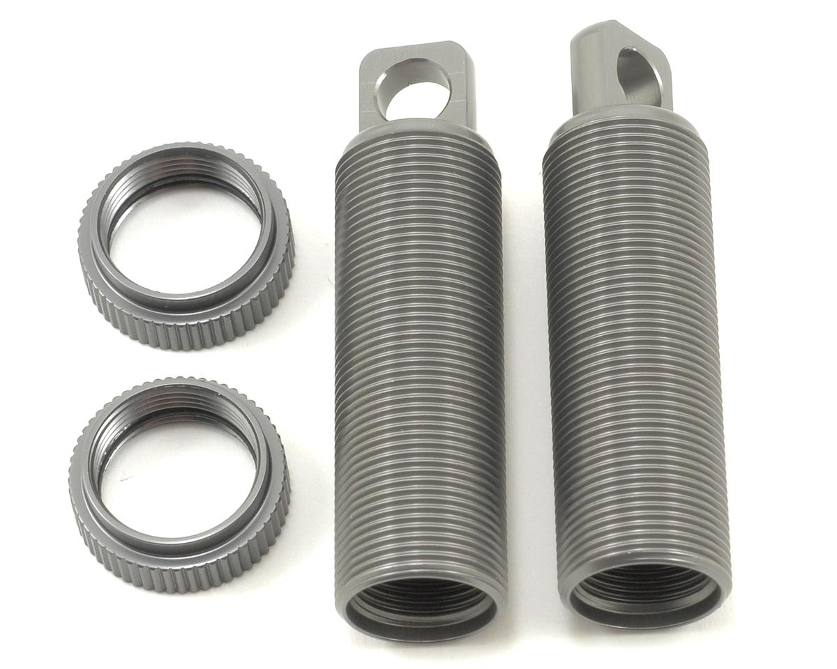 ST Racing Concepts Aluminum Threaded Front Shock Body & Collar Set (Gun Metal) (2)