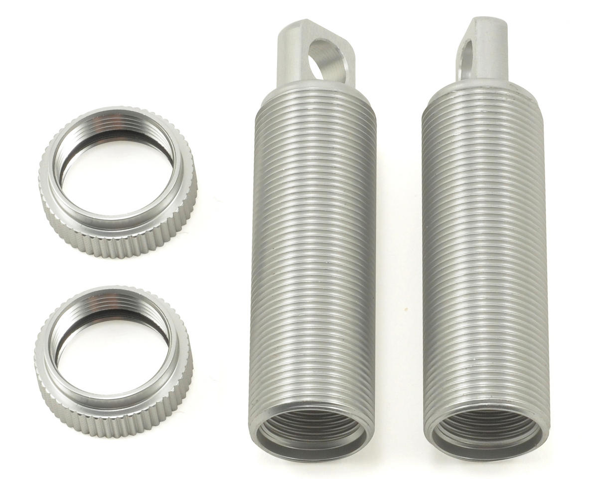 Aluminum Threaded Front Shock Body & Collar Set (Silver) (2) by ST Racing Concepts