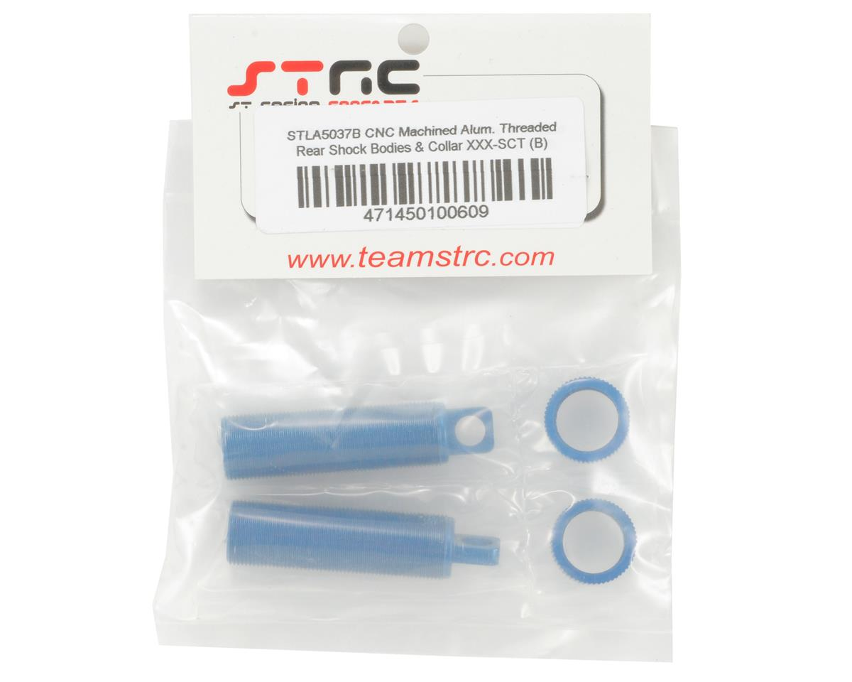 Aluminum Threaded Rear Shock Body & Collar Set (Blue) (2) by ST Racing Concepts