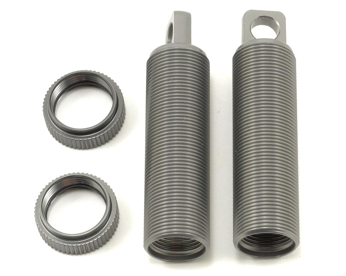 Aluminum Threaded Rear Shock Body & Collar Set (Gun Metal) (2) by ST Racing Concepts