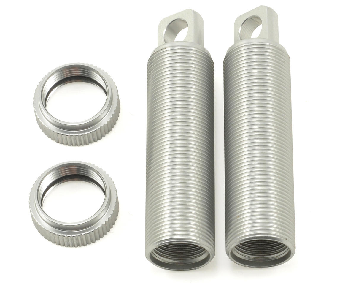 ST Racing Concepts Aluminum Threaded Rear Shock Body & Collar Set (Silver) (2)